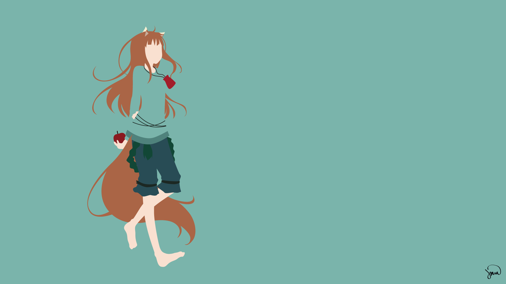 holo spice and wolf iphone wallpaper