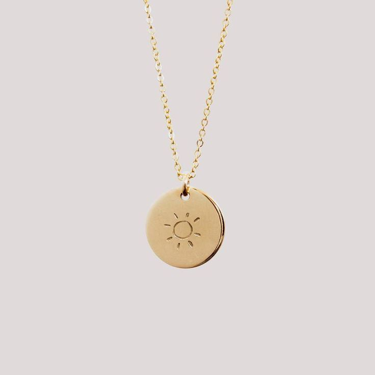 Sunny Disc Necklace – 1/2