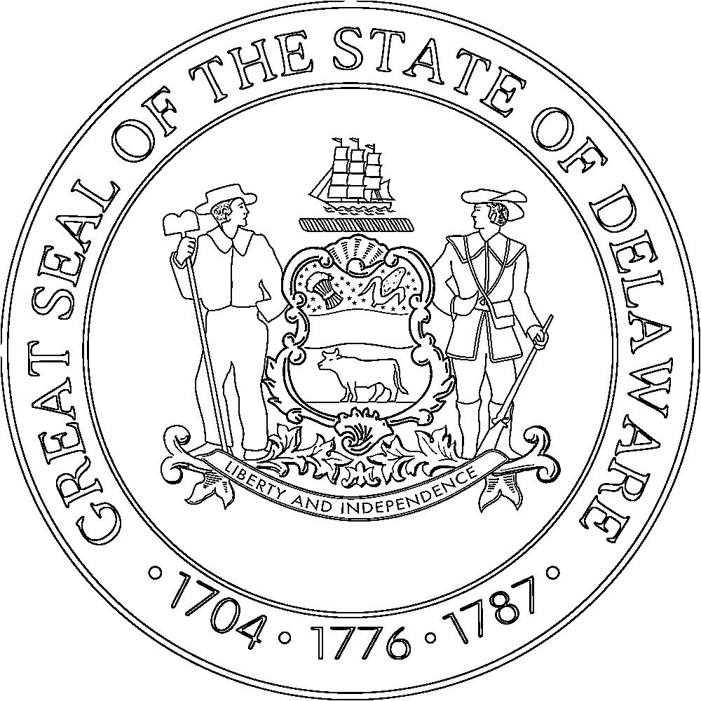 Seal Delaware 1000 1000 Flag Coloring Pages Delaware State