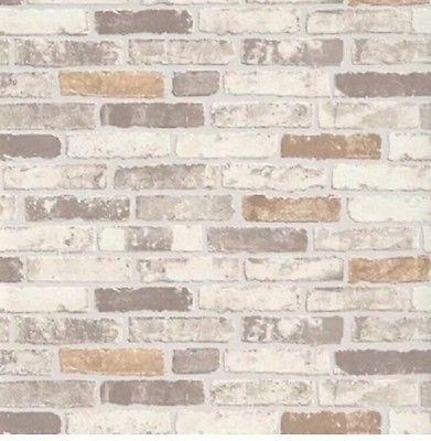 8c025fc890b08 -Erismann Brix Brick Wall Effect Embossed Textured Vinyl Wallpaper Beige  6711-10 • EUR