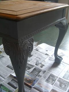 My Cur Project A Ball Claw Foot End Table