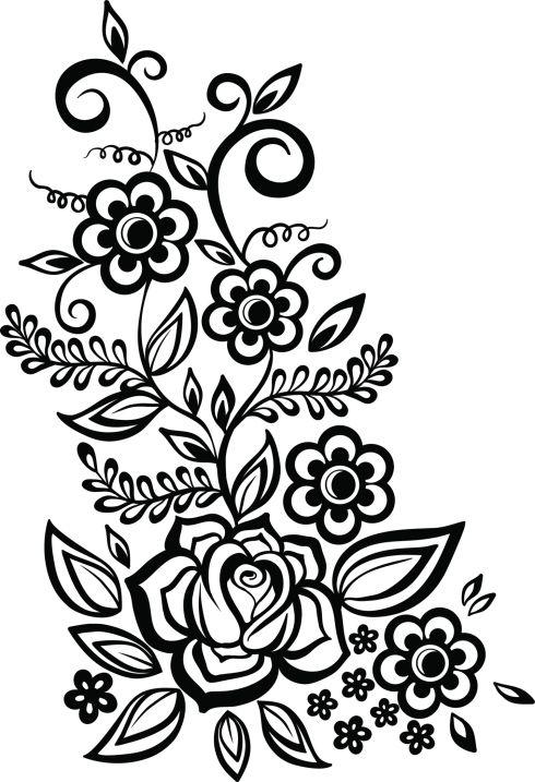 Plantillas de tatuajes de enredaderas tatuajes - Cenefas para dibujar ...