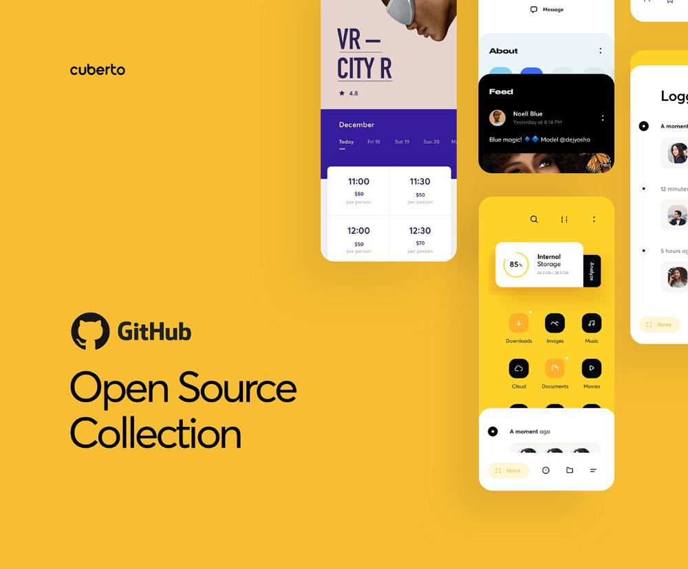 GitHub Open Source Collection on Behance Дизайн