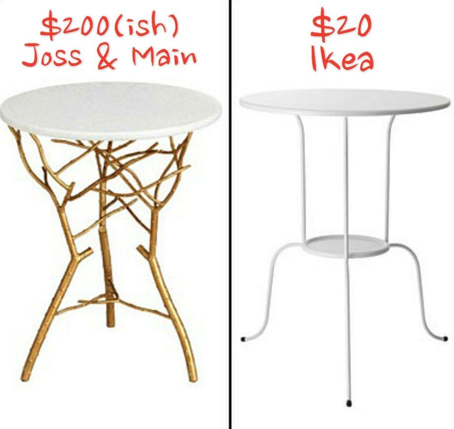 Both Tables Ikea Table Diy Furniture Table Makeover [ 872 x 921 Pixel ]