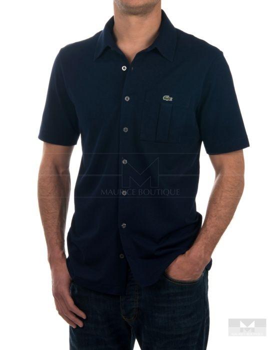 0400e30a790ec Camisa Lacoste manga corta Azul Marino - Vendome   Lacoste ...