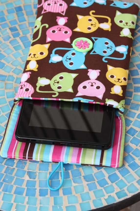 New  Children's Kindle Fire Case  Kindle Sleeve  E by PinkGasoline. , via Etsy.