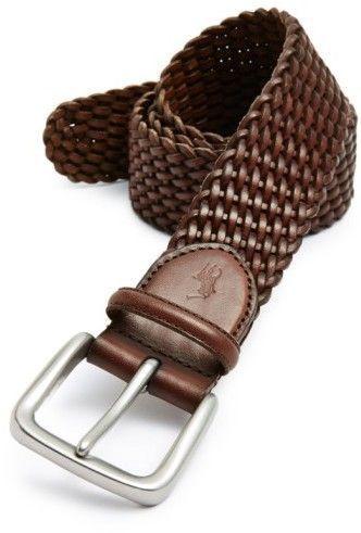 Polo Ralph Lauren Men's Braided Leather Belt #braidedbeltstyle
