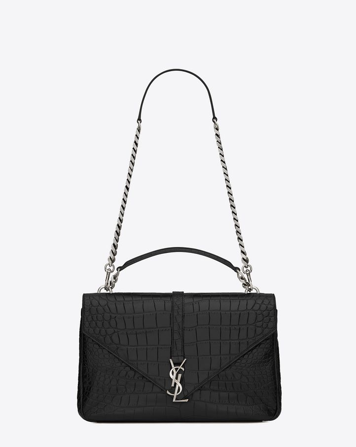 7fdb29d8a1a37 Saint Laurent Monogram College  discover the selection and shop online on  YSL.com