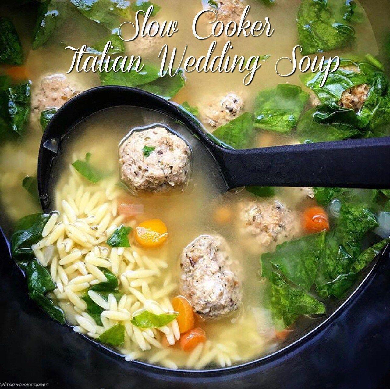 (VIDEO) Slow Cooker/Instant Pot Italian Wedding Soup