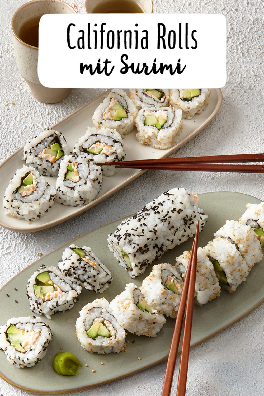 Photo of California rolls with surimi