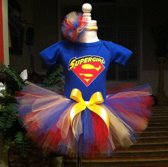 Beautiful Supergirl Birthday Tutu Dress Outfit By