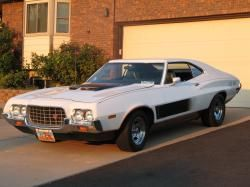1972 White Gran Torino Sport Muscle Cars Cars Motorcycles Cat 70s Cars