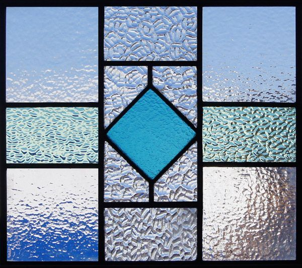 Antique Stained Glass Geometric Patterns Worked Great As A