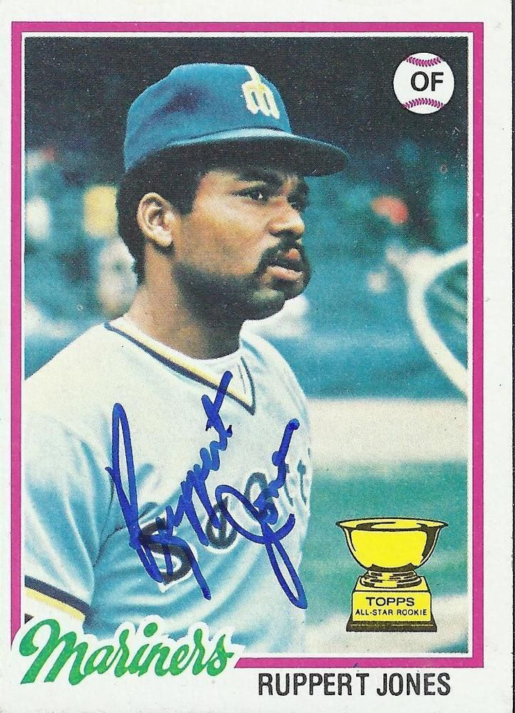 Ruppert Jones Seattle Mariners 1978 Topps Signed Autograph W