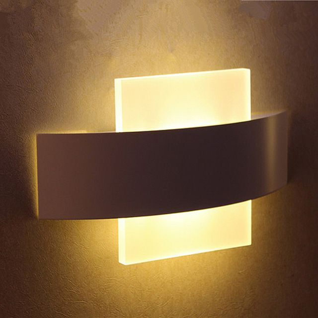 wall lamps for living room. High quality LED wall light living sitting room foyer bedroom bathroom  modern sconce square