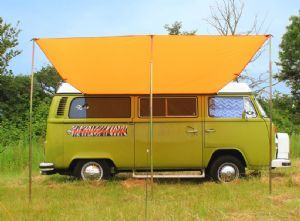 VW C&er Sun Canopy Awning - Brilliant Orange & VW Camper Sun Canopy Awning - Brilliant Orange | My campervan ...
