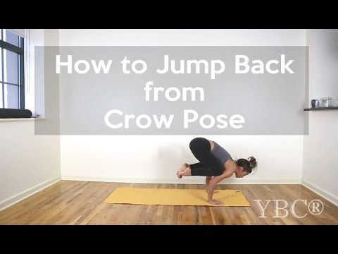 how to jump back from crow pose  crow pose yoga