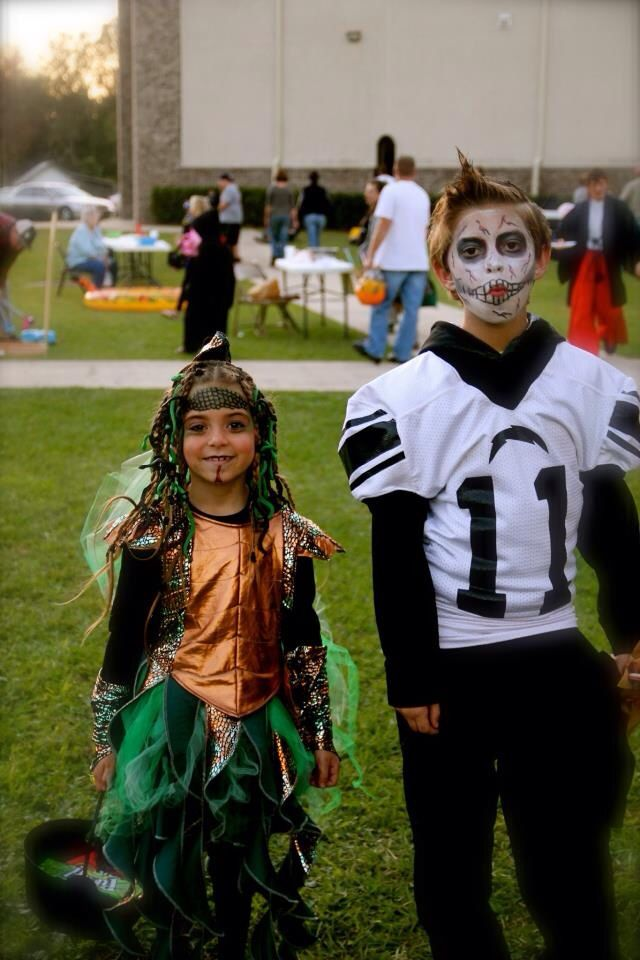 Medusa And Zombie Football Player Costume Fun With The