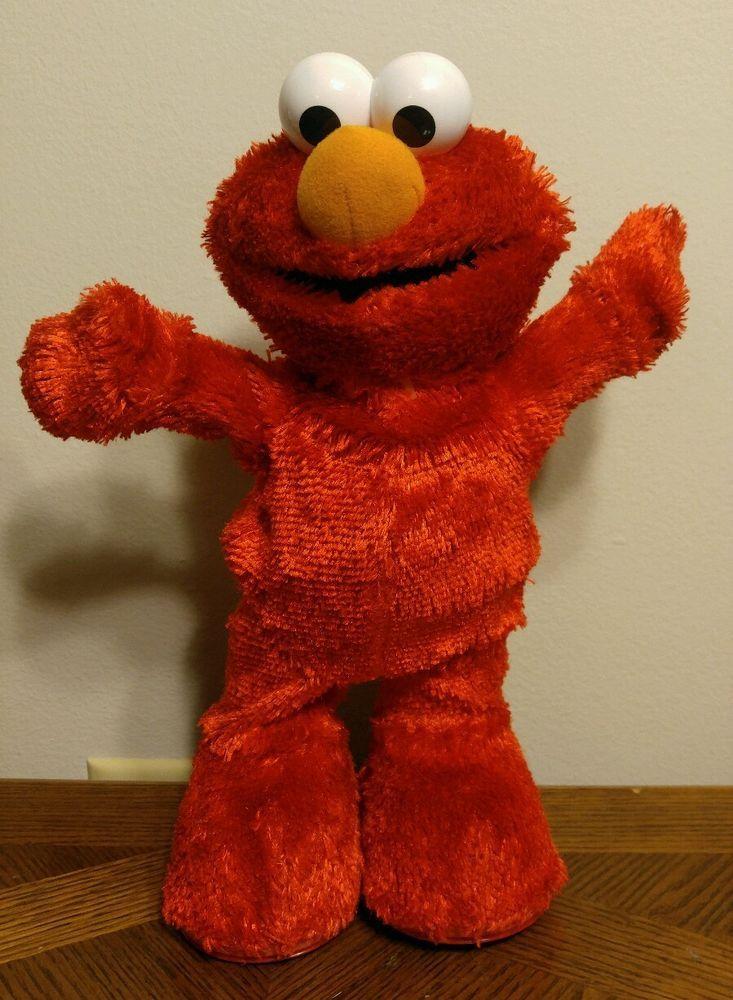2002 Hokey Pokey Elmo dance sing shake Fisher Price Stuffed Plush Toy Red #FisherPrice