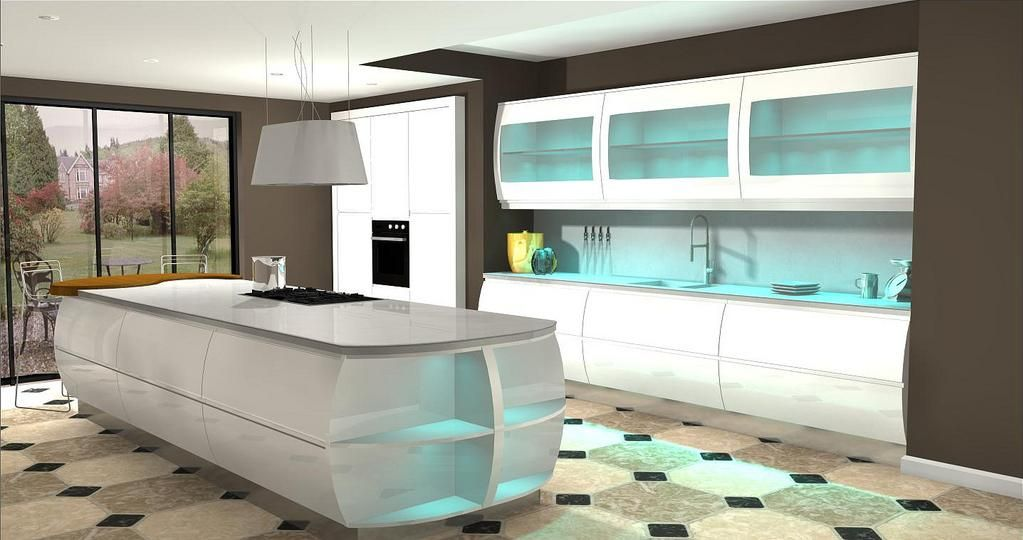 Kitchen Modern Glass Design Software Preview Good Large Room Nice