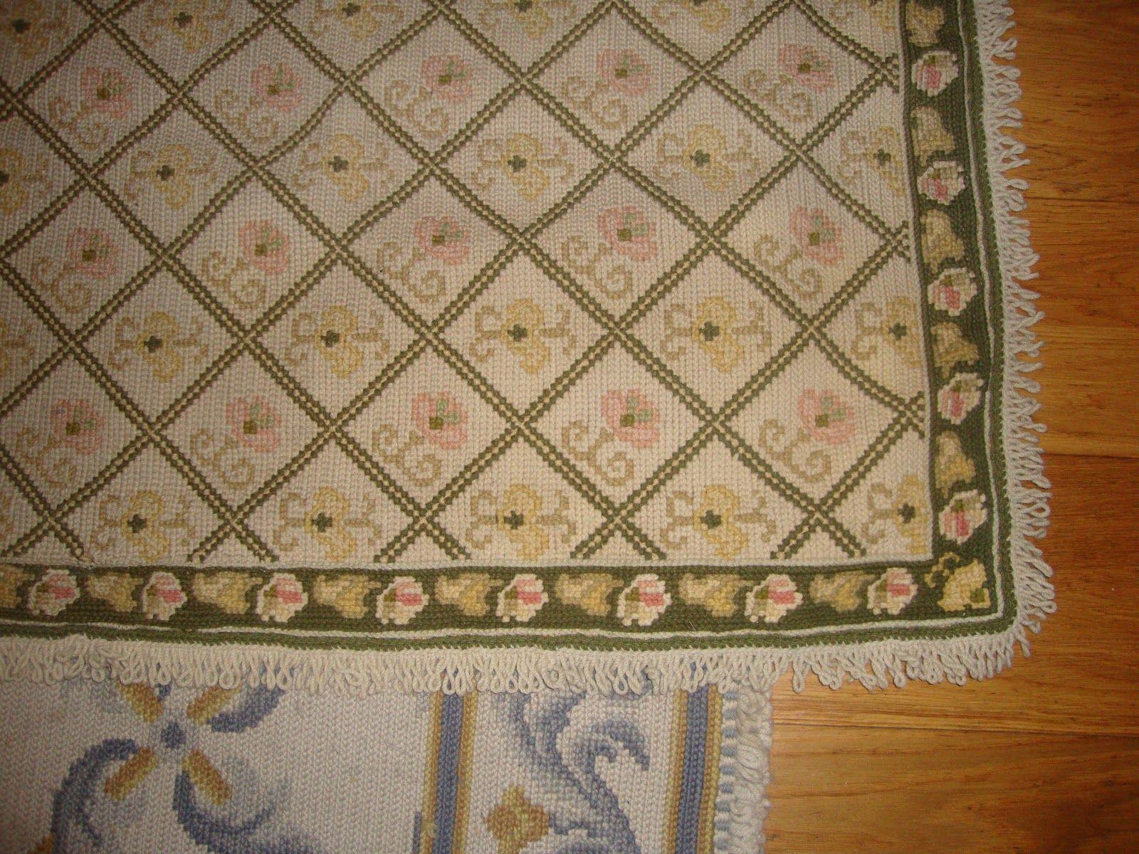 E agora o tapete de Arraiolos já restaurado!