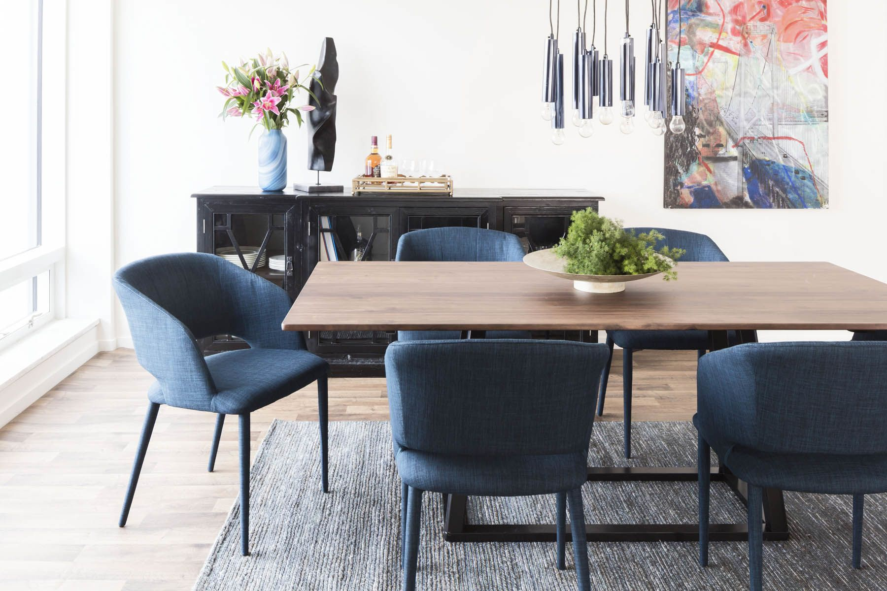 These Royal Blue Dining Chairs Are Modern Comfortable And On Sale