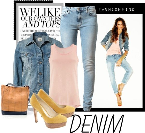 """""""Fashion denim"""" by reddgloss ❤ liked on Polyvore"""