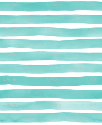 Mm Aqua Watercolor Stripes By At Friztin Fabric Wallpaper Giftwrap