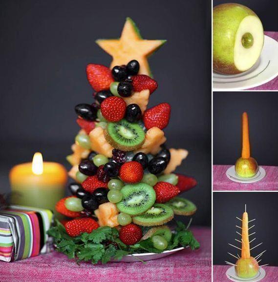 Pièce montée de fruits   Anniversaire   Pinterest   Xmas