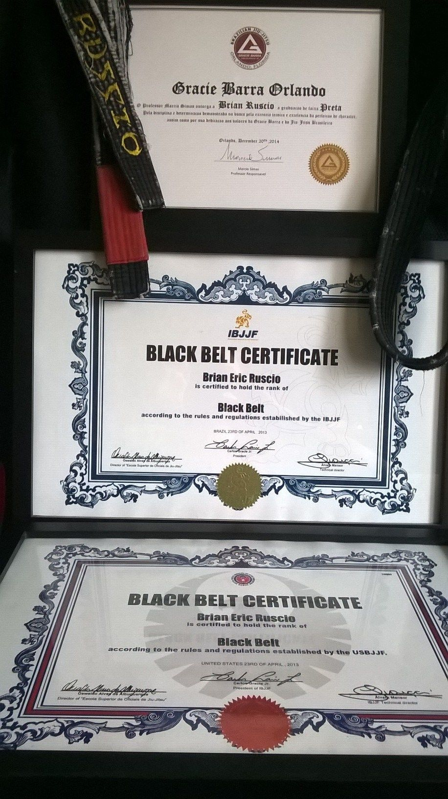 Gracie barra black belt certificate grappling mastery gracie barra black belt certificate xflitez Gallery
