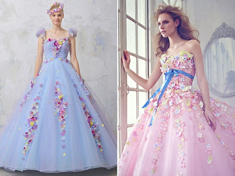 The Real Princess Worthy Combination 18 Stunning Gowns In Pink Blue