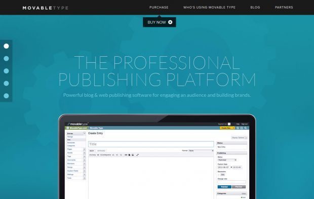 Movable Type Content Management System Blog Software And Publishing Platform Webdesign Inspiration
