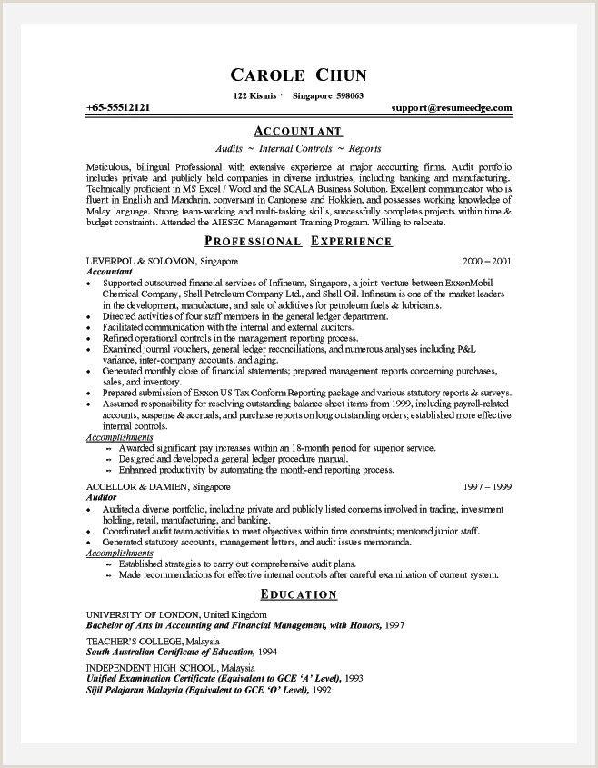 Accountant Cv Sample Job Resume Examples Job Resume Template Resume Examples