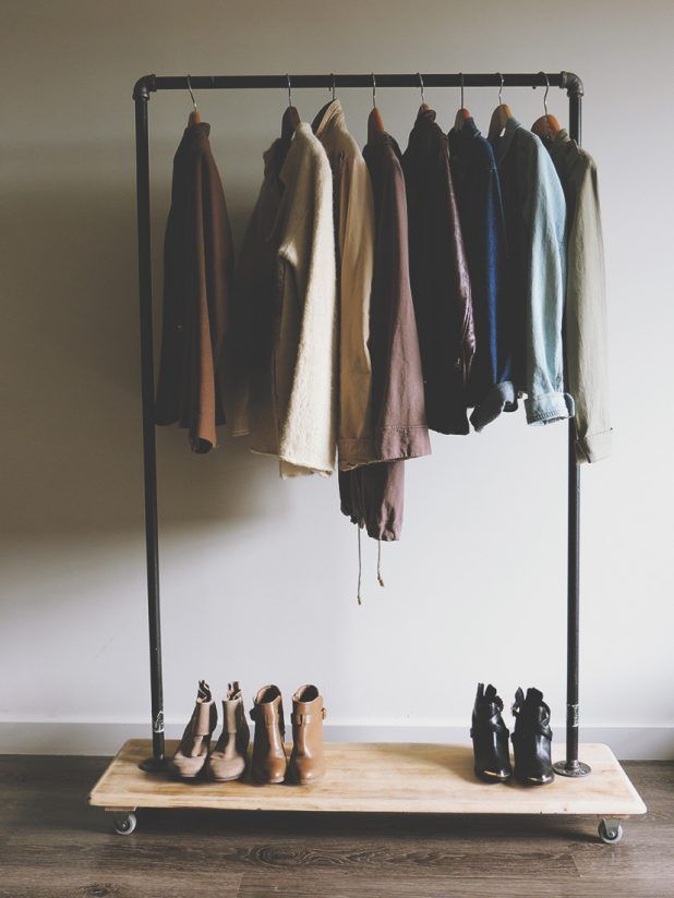 Furniture Diy Clothes Rack Design Inspiration Industrial