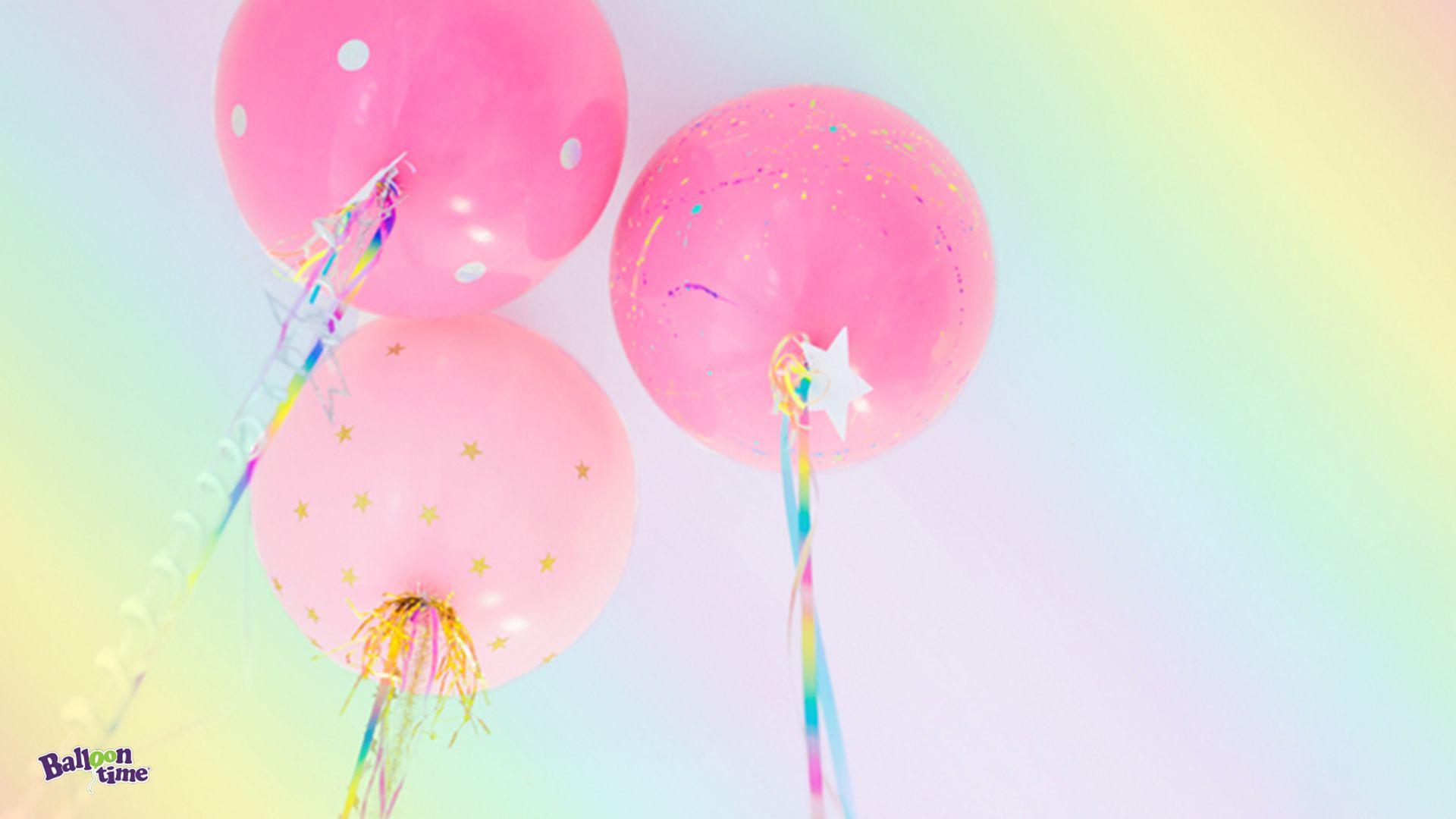 Birthday Balloon Zoom Background In 2020 Unicorn Themed Birthday Party Unicorn Balloon Birthday Balloons