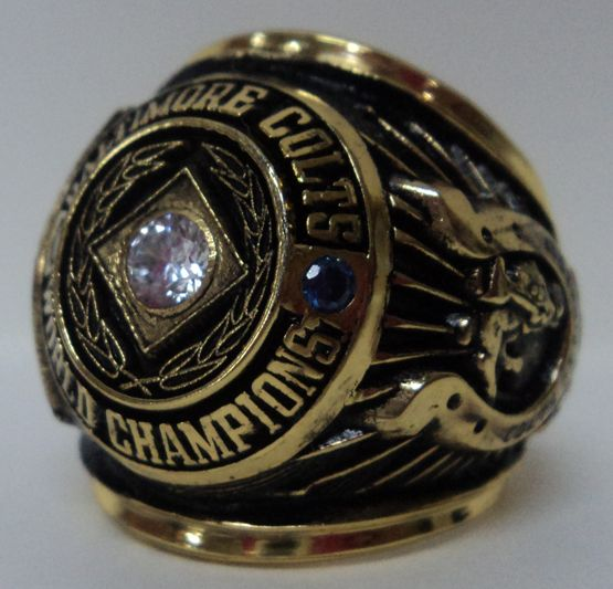 1958 Baltimore Colts NFL Super Bowl Championship Replica Rings.  NFL  Football Rings