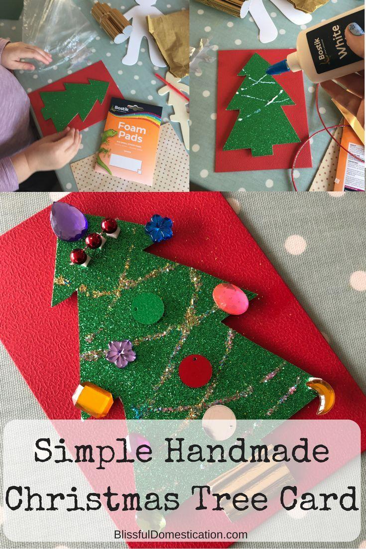 Christmas Ideas For Kids To Make.Simple Handmade Christmas Card Idea For Kids Holiday