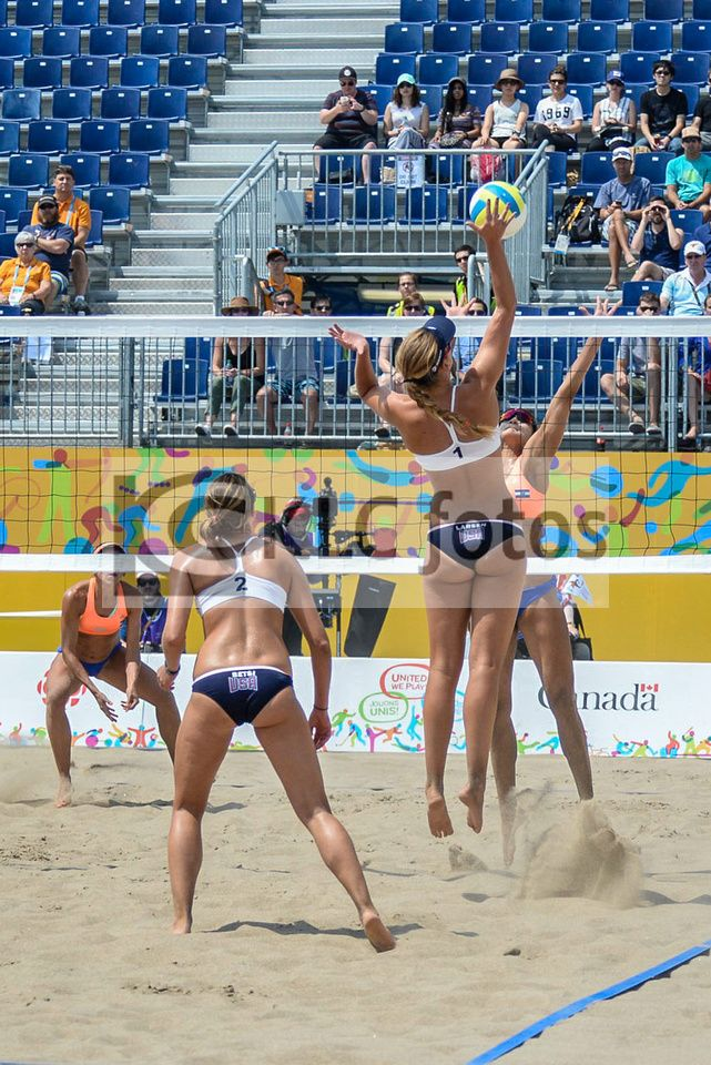 2015 07 13 Panam Games Women S Beach Volleyball Us Vs El Salvador