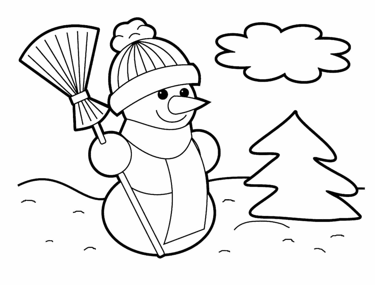 Christmas Coloring Pages Christmas Coloring Pages Christmas Tree Coloring Page Snowman Coloring Pages