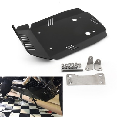 Black Motorcycle Skid Plate Engine Guard Protection for BMW R Nine T /& Scrambler /& Pure 2013-2017
