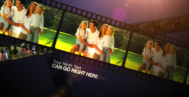 Film Strip Free After Effects Slideshow Template Th Wedding - Ae slideshow template free