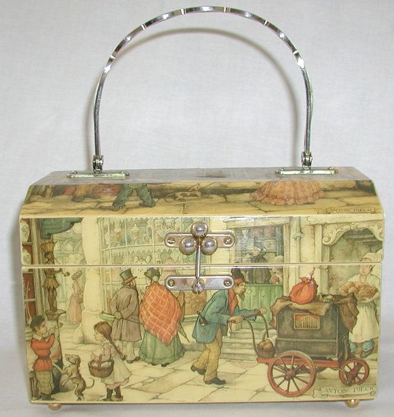 Anton Pieck vintage decoupauge handbag $50   TheVintageHandbag