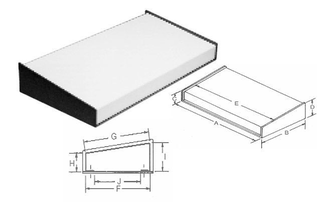 Small Metal Electronics Enclosures   Keyboard Enclosures