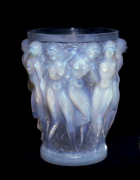 Rene Lalique Vase Bacchants Paris Circa 1924 Glass Height