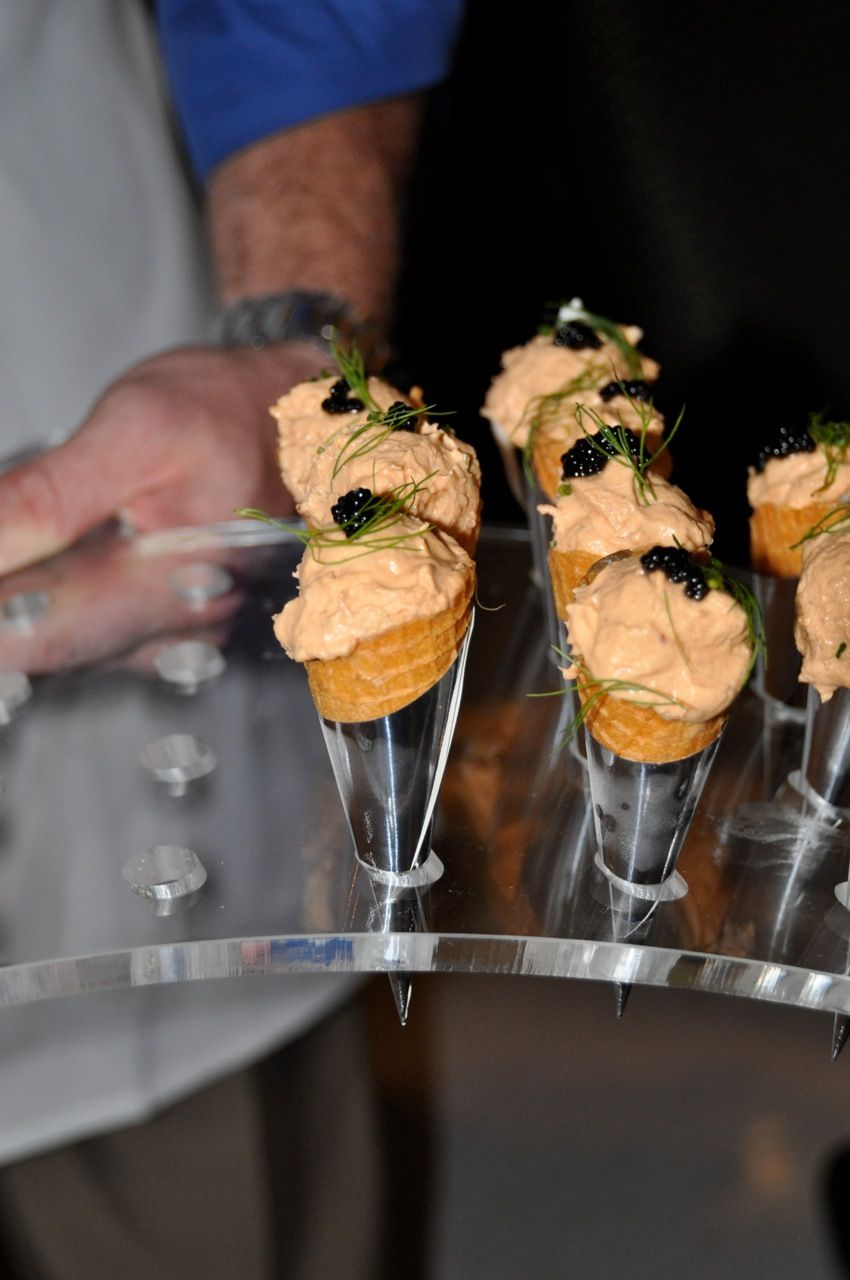 Chef Danny Trace from Brennen's of Houston created Texas redfish and blue crab cones with smoked pea patch tomatoes, spring fennel and ghost pepper Cajun caviar, paired exclusively with Casa Dragones Tequila.