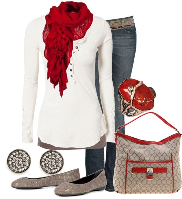 """red & neutrals"" by lagu on Polyvore"