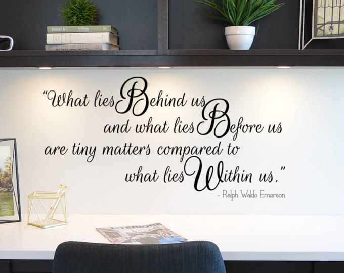 What lies before us decorative wall quote decor interior design by ralph waldo emerson dw also rh pinterest