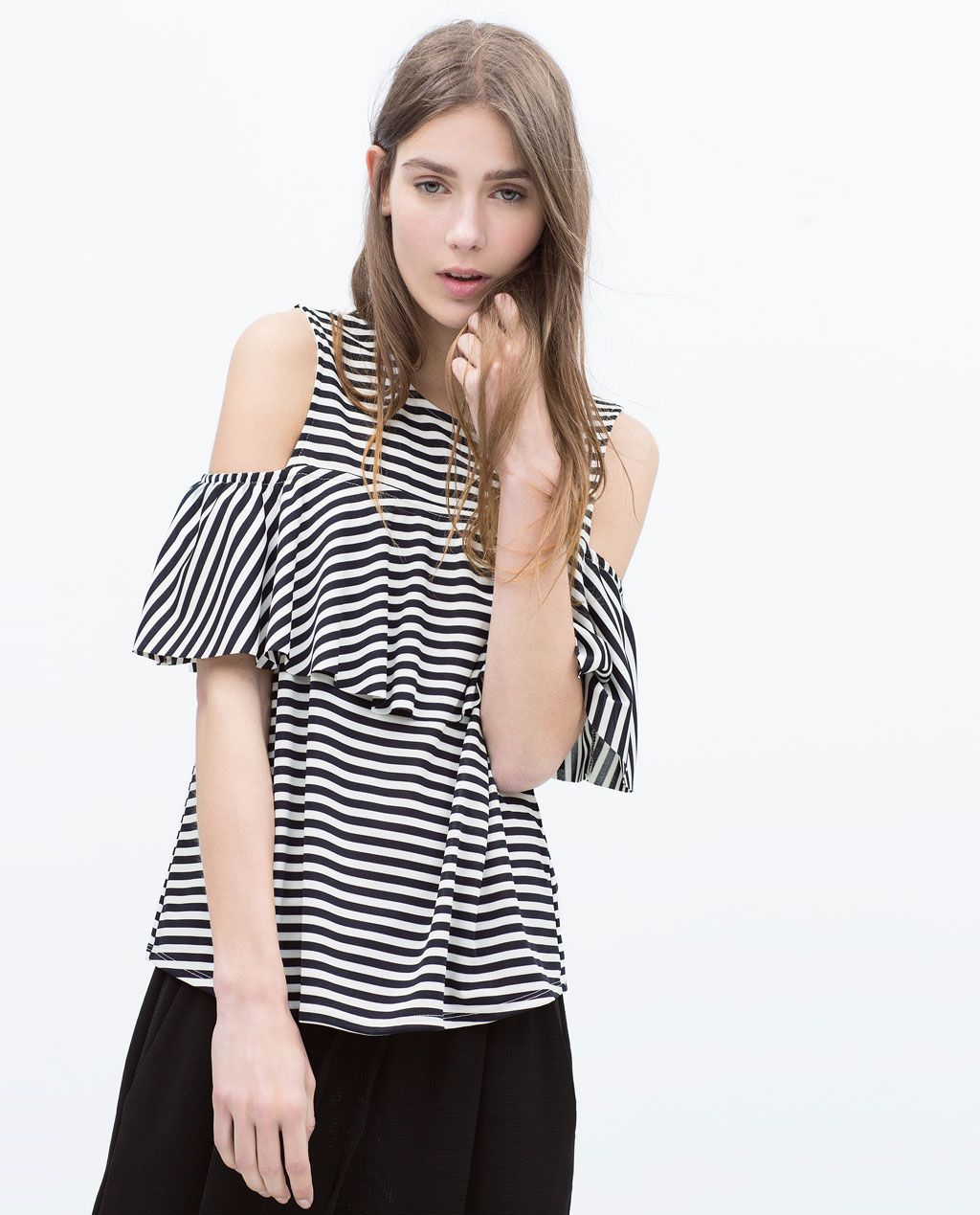 FRILLED T-SHIRT-Woman-NEW THIS WEEK   ZARA United States   Dream ... d61eb5b355e
