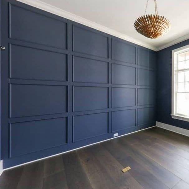 Feature Wall Wainscoting: Feature Wall Bedroom, Door