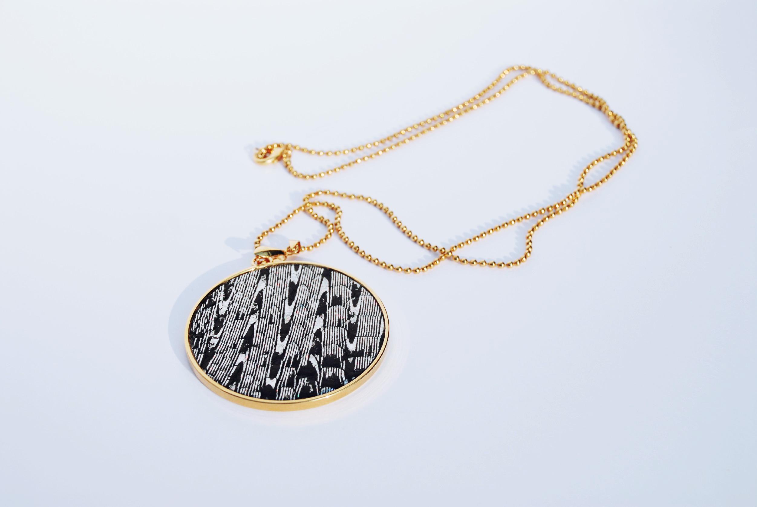 medallion 60 mm high fashion leather CROCODILE
